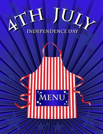 A 4th July Independence day menu template Stock Vector - 10695099
