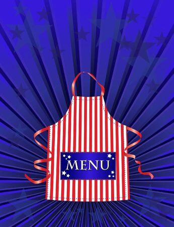 A menu template for an American dinner or Independance day meal Vector