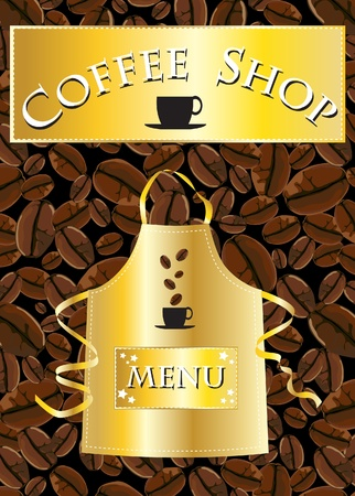 A template for a coffee shop menu Vector