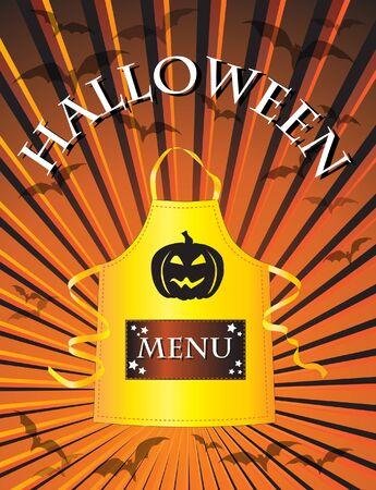 A menu template for a Halloween menu. Vector