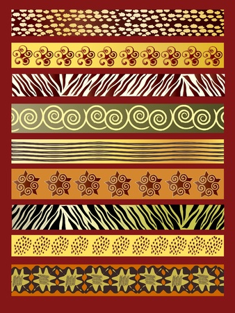canvas print: A vector illustration of African fabric in earthtones