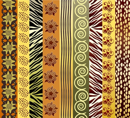 batik: Une illustration vectorielle du tissu africain dans earthtones Illustration