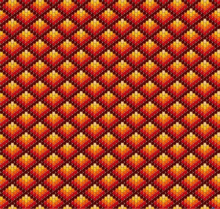 Beadwork background in earth tones. Vector