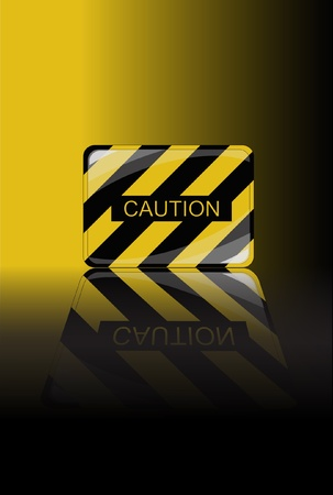 A vector illustration of a Caution sign with space for text. Vector