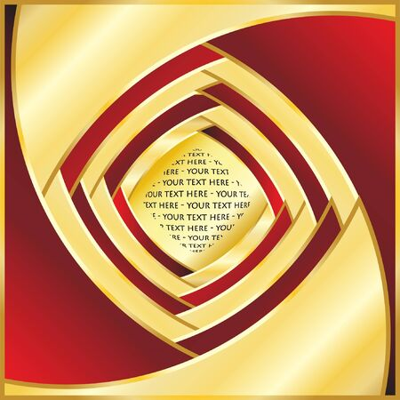 Stylish abstract vector in red and gold with space for text. EPS10 vector format. Stock Vector - 10767166