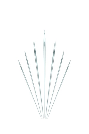 A vector illustration of different size needles isolated on white Stock Vector - 10767142