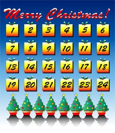advent calendar: A vector illustration of an Advent Calendar