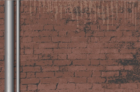 A vector illustration of an old brick wall background with space for text. Stock Vector - 10799083