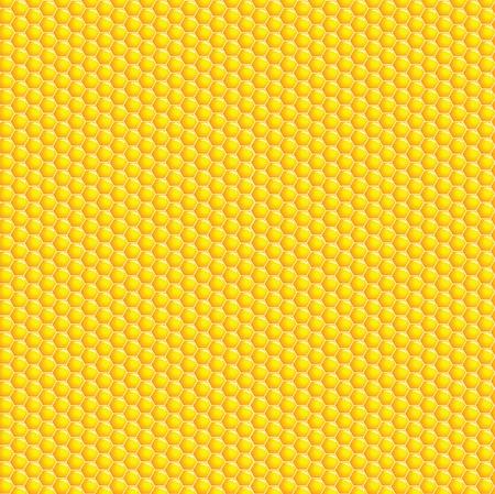 abeilles: Une illustration de vecteur d'un fond en nid d'abeille