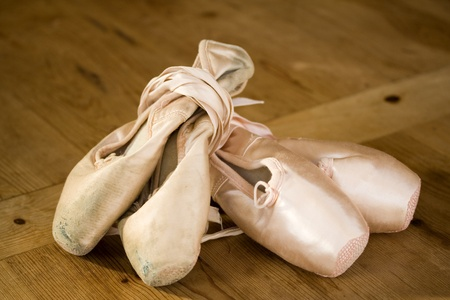 Old and new ballet shoes  photo