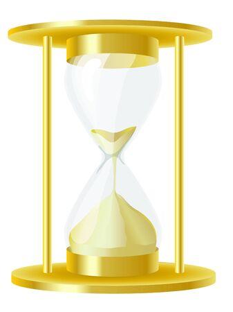 horas: Una ilustraci�n vectorial de un reloj de arena antiguo fasioned