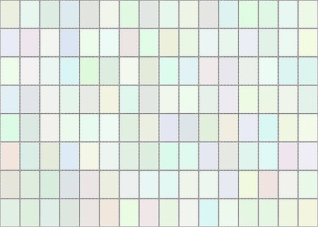 A vector illustration of a sheet of blank postage stamps in pastel shades Vector