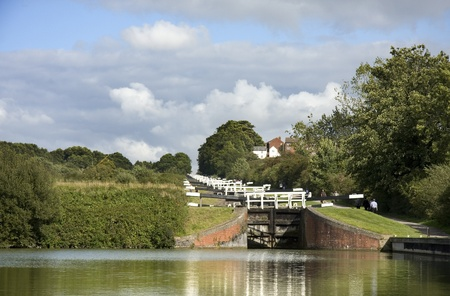 canal lock: The Kennet and Avon Canal lock gates