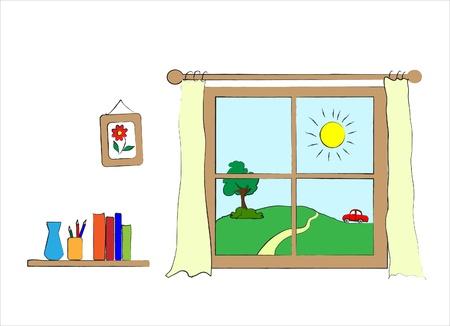 window view: A children