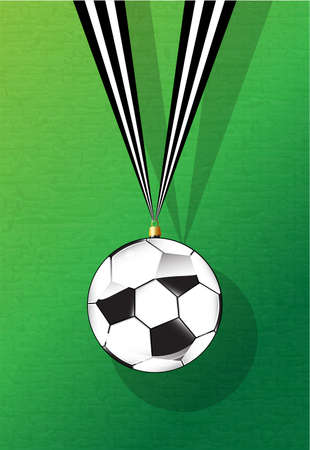 Football shaped Christmas bauble. Novelty for the football lover. Vector