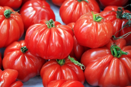 Fresh ripe, red tomatoes for sale at a market Stock Photo - 11031904