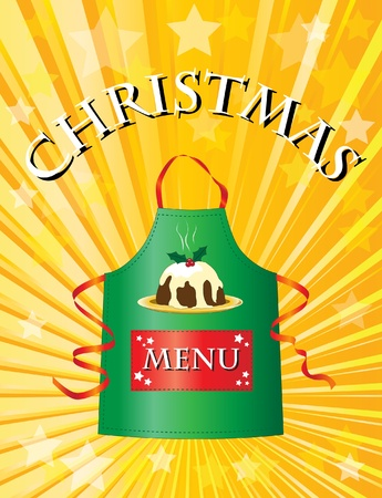 A menu template for a Christmas menu. Vector