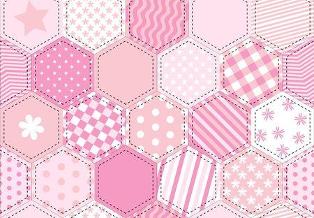 sampler: Una ilustraci�n de un fondo de tejido de mosaico en tonos de Rosa Vectores