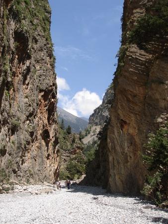 severity: A view of Samaria Gorge, Crete Greece