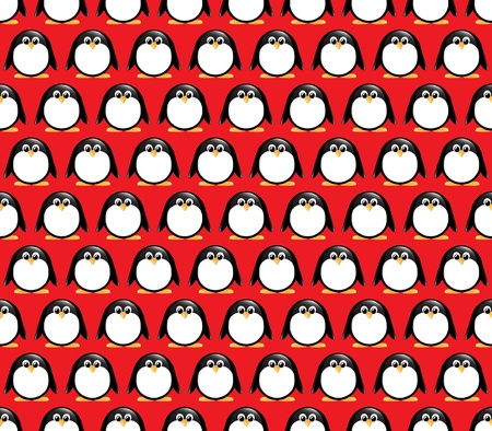 bird pattern: Seamlees glossy penguin pattern. Illustration