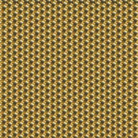 An illustration of a gold metal grid background. Vector