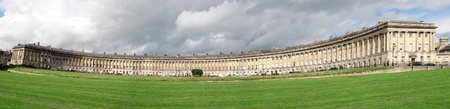 A panorama of Royal Crescent, Bath showing typical Georgian architecture