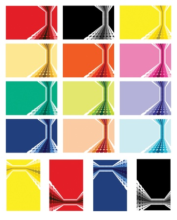 A vector template for a business card in various colour options Stock Vector - 11898235