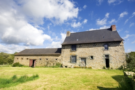 french countryside: An example of a 16th century French stone house in Northern France. Property release can be made available if required.