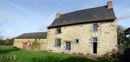 Stone house in Northern France, circa 1650. Property release can be provided if required. photo