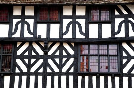 shakespearean: Detail of a timbered building, Stratford-Upon-Avon, UK.