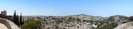 A panorama of Granada taken from the Alhambra, Andalucia, Spain. Stock Photo - 12235533