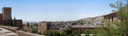 A panorama of Granada taken from the Alhambra, Andalucia, Spain.
