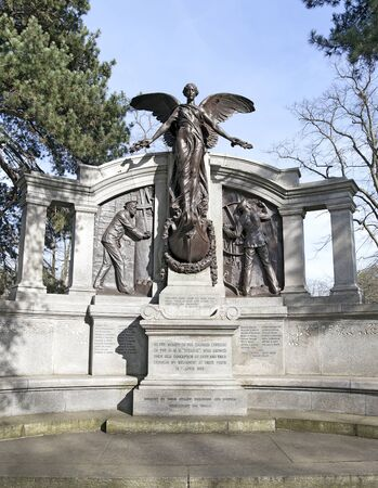 The Titanic Engineers Memorial in Southampton, UK  The Titanic sank on it