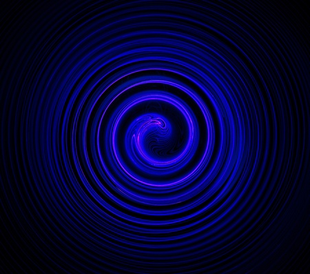 Concentric circles in blue fractal.  Stock Photo - 13136045