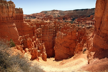 The Hoodoo rock spires of Bryce Canyon, Utah, USA  photo