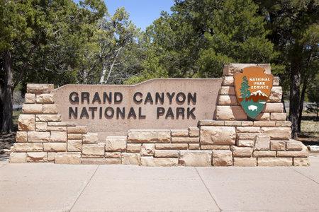グランドキャニオン国立公園、アリゾナ州、米国への入り口 報道画像