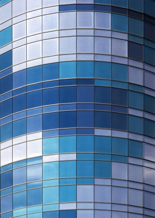 Wall of windows architectural detail. Shades of blue Stock Photo - 13824717
