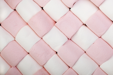 Marshrmallow background in checkerboard formation.