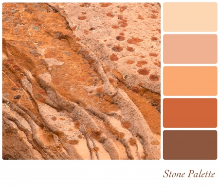 Stone background colour palette with complimentarty swatches  photo