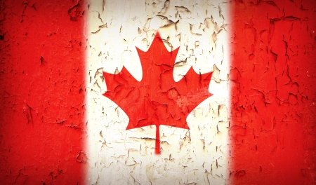 Vintage effect Canadian flag  photo