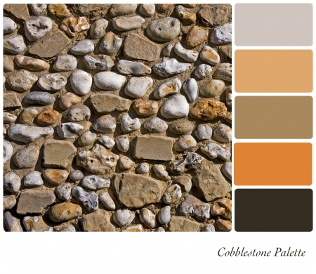 Cobblestone background colour palette with complimentary swatches  photo