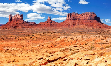 The famous Buttes of Monument Valley, Utah, USA photo