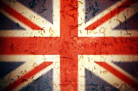 bandera inglesa: Vintage Union Jack efecto grunge