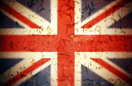 drapeau anglais: Vintage Union Jack effet grunge