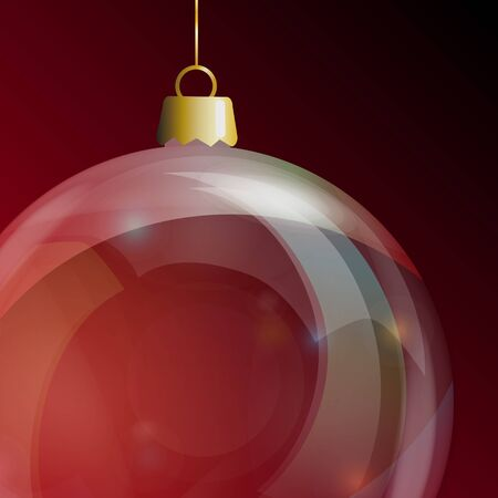 Detail of glass Christmas bauble. EPS10 vector format. Vector