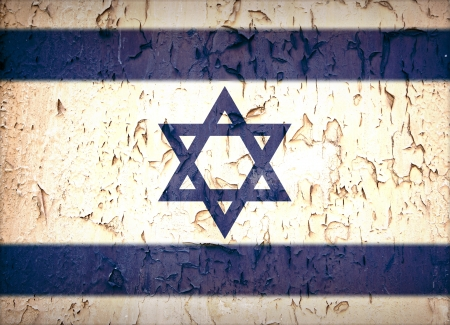 Vintage effect Star of David Israeli flag. photo