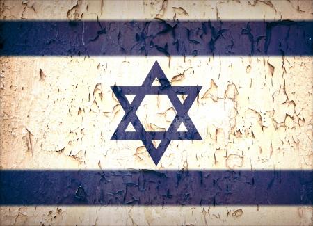 israelite: Vintage effect Star of David Israeli flag.