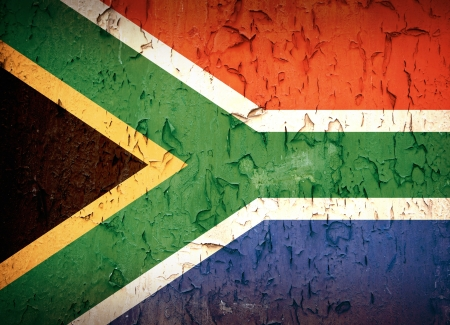 south african: South Africa flag, vintage effect