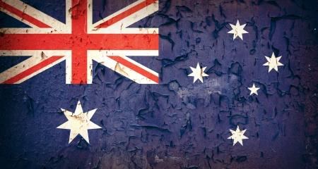 Vintage effect Australian flag
