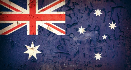 Vintage effect Australian flag  photo